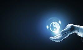 Filosofía de Yin yang Imagen de archivo libre de regalías