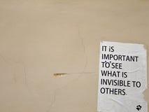 Filosofía en la pared Imagen de archivo libre de regalías