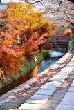 Filosof Path i höst på Kyoto Fotografering för Bildbyråer