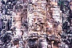 Filosofie kandidat-yon framsida på Angkor Thom Royaltyfri Foto