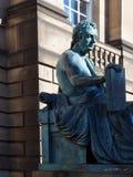 Filosofo editoriale di David Hume della statua sul miglio reale Edimburgo, Immagine Stock