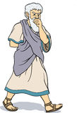 filozofa grecki główkowanie Zdjęcia Stock