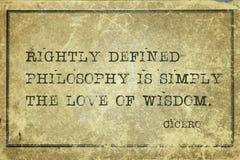 Filozofia jest Cicero Obraz Stock