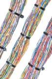 Fils avec des serres-câble Photographie stock libre de droits