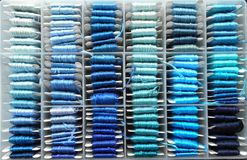 Fils bleus Photos stock