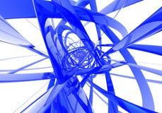Fils bleus abstraits Photos libres de droits