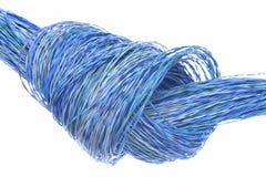 Fils colorés avec le noeud utilisé dans le réseau électrique Photos libres de droits