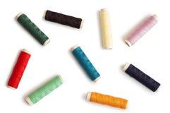Fils colorés de bobines Image stock