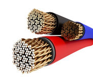 fils de câble par fil Photographie stock libre de droits
