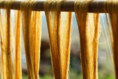 Fils de coton, couleur de teinture de soie naturelle et teignante, utilisant les matériaux naturels traditionnels, fil multicolor photo libre de droits