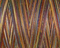 Fils de couture multicolores dans la bobine, surface, macro Images stock