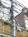 Fils de l'électricité Photographie stock libre de droits
