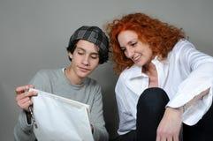 Fils de mère et d'adolescent Photos libres de droits