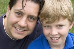 Fils de père Photos libres de droits