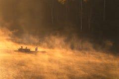 Fils de Pang Oung Lake Mae Hong, Thaïlande images libres de droits