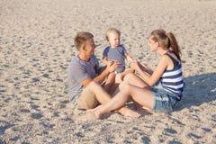 Fils de papa de maman chez Pebble Beach Image libre de droits