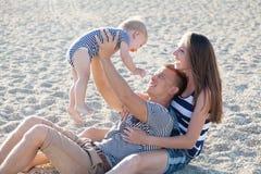 Fils de papa de maman chez Pebble Beach Photos libres de droits