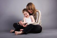 Fils et mère Photo stock