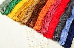 Fils multicolores de coton pour Image libre de droits
