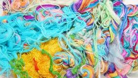 Fils multicolores de soie Texture colorée de fond Photo stock