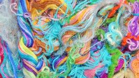 Fils multicolores de soie Texture colorée de fond Image stock