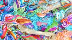 Fils multicolores de soie Texture colorée de fond Photographie stock