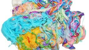 Fils multicolores de soie Texture colorée de fond Photos stock