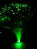 Fils optiques verts Photographie stock libre de droits