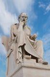 Filósofo griego Aristoteles Sculpture Imagen de archivo libre de regalías