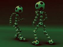 Filt di lotta di gioco del calcio Fotografia Stock Libera da Diritti