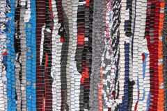Filt eller matta för färgrik handgjord tygtextur brokig fotografering för bildbyråer