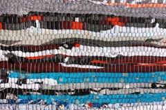 Filt eller matta för handgjord tygtextur brokig arkivfoto