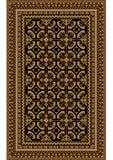 Filt med mönstrad beiga och bruna skuggor på en svart bakgrund Royaltyfri Foto