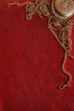 Filtbakgrund med forntida guld som ram Royaltyfri Bild