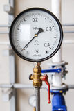 Filter blue flange manometer Stock Photography