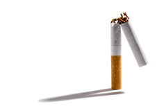 Filter cigarette broken in two Royalty Free Stock Photography