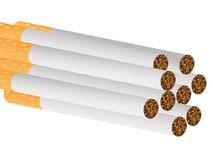 Filter cigarettes. Against white background, abstract vector art illustration Stock Photos