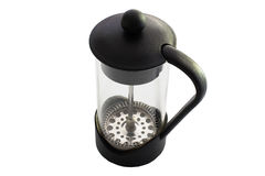 Filter coffee glass plunger Royalty Free Stock Images