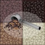 Filter for Coffee Machine With Coffee Bean Backgro Stock Photo