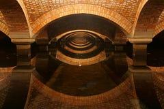Filter för underjordiskt vatten som bakgrund Fotografering för Bildbyråer