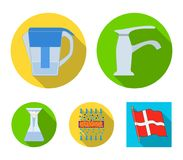 Filter, filtration, nature, eco, bio .Water filtration system set collection icons in flat style vector symbol stock. Illustration Royalty Free Stock Photos