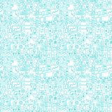 Filter Funnel Seamless Pattern. Vector Illustration of Outline Background Royalty Free Stock Image