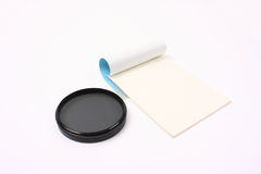 Filter and lens paper Royalty Free Stock Photo