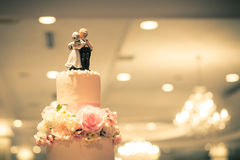 Filter process,Top of Wedding Cake Stock Image