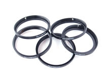 Filter stepping rings. On a white background Royalty Free Stock Image