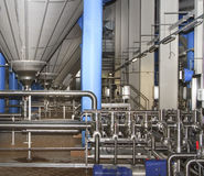 Filter system at a large beer company Royalty Free Stock Photography