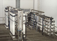 Filter system at a large company. Filter system at a large beer company Royalty Free Stock Photography