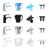Filter, system, processing and other web icon in cartoon style. Equipment, tools, machinery, icons in set collection. Royalty Free Stock Image