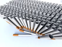 Filter tubes. Illustation of Filter tubes in 3D Royalty Free Stock Images