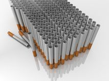 Filter tubes. Illustation of Filter tubes in 3D Stock Photography